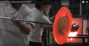 Local Artist: Glass blower Cory Ballis