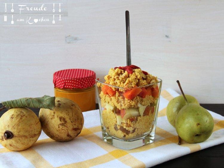 Kurkuma Amaranth Pops - warmes Frühstück - Freude am Kochen
