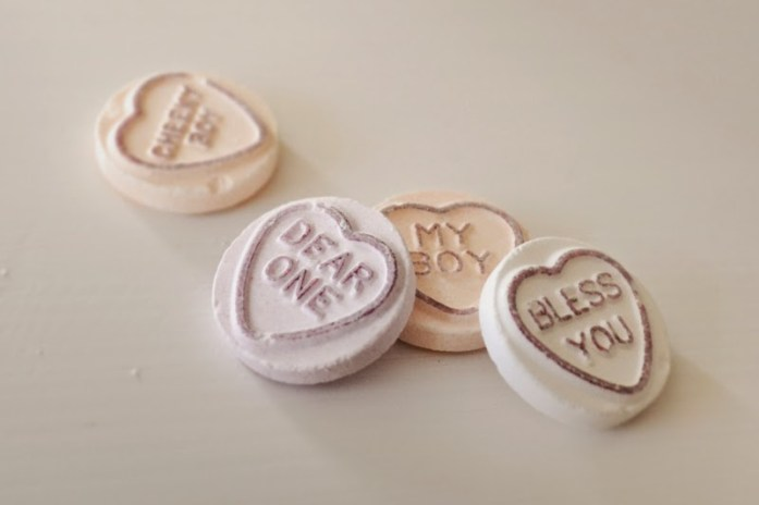 Love hearts candy