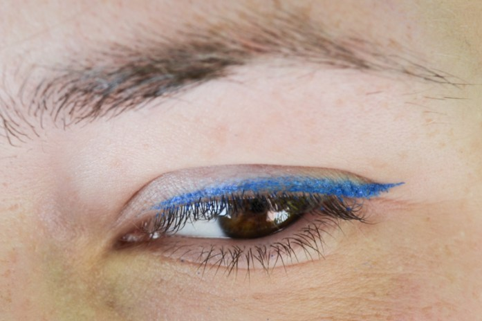 Electric Blue Eyeliner on Brown Eyes