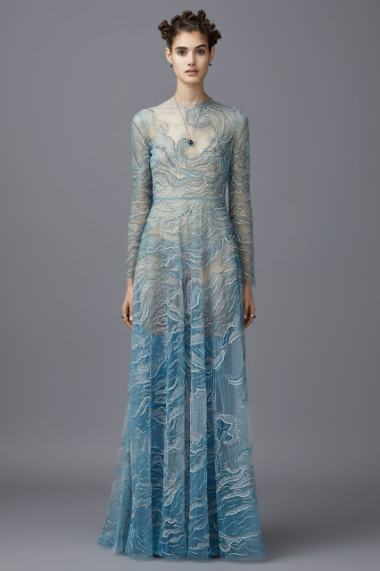 Valentino (Pre-Fall 2016) ocean wave dress
