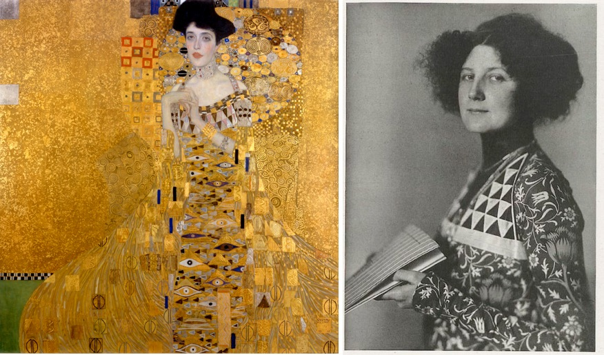 emilie flöge with klimt painting