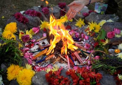 Shaman Funeral Fire