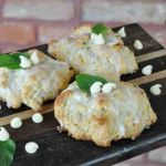Amish Friendship Bread White Chocolate Mint Scones