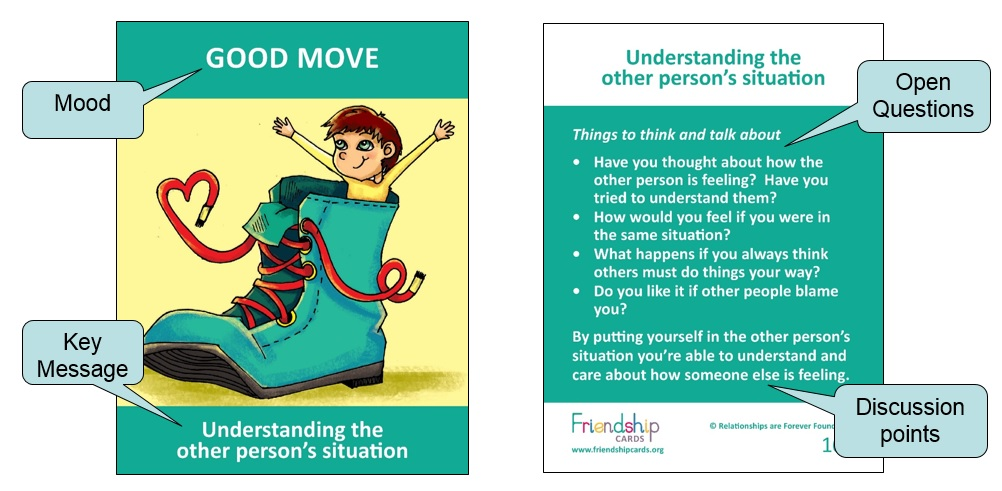 Emotional literacy skill cards for children, Conflict resolution - sample cards