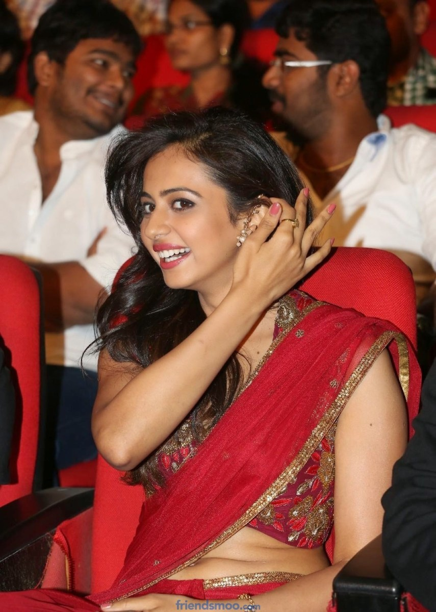 Rakul Preet Singh Latest Photos in Red Saree