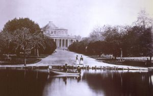 Pittville Pump Room 1880s approx with lake