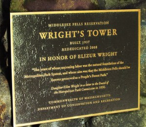Wright's Tower Plaque