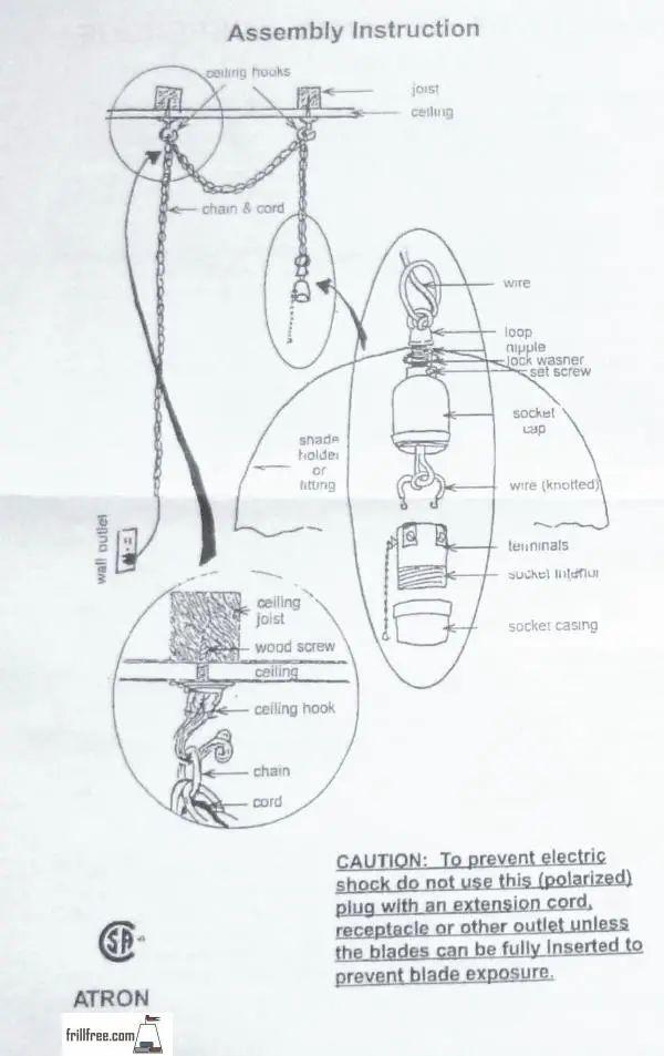 swag lamp wiring kit