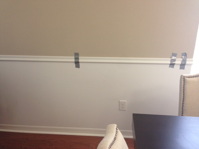 Chair Rail Level Part - 43: Marvelous This Part Should Most Definitely Be A Two Person Job, One Holding  Level And