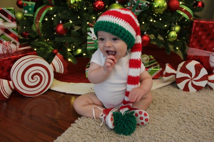 christmas elf baby photo tree