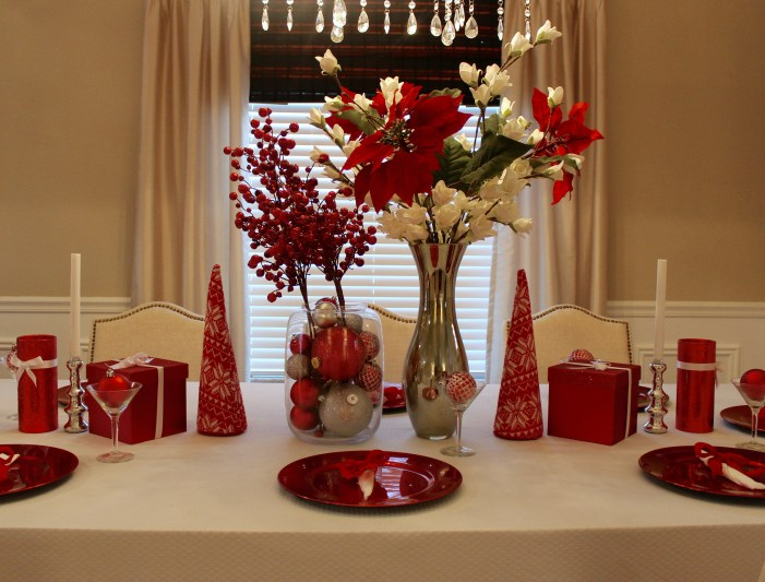 christmas dining room table decor centerpiece tables cape
