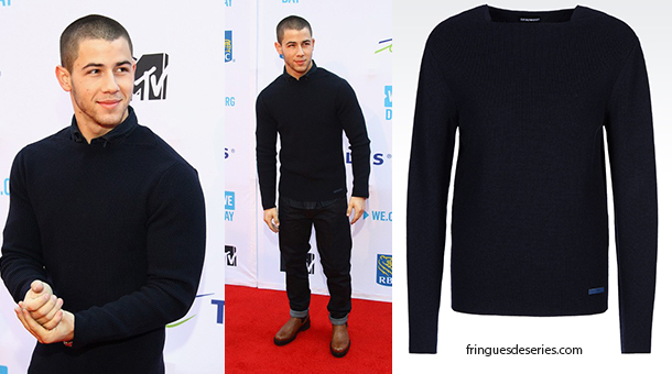 Style Nick Jonas In Armani On The Red Carpet Fringues