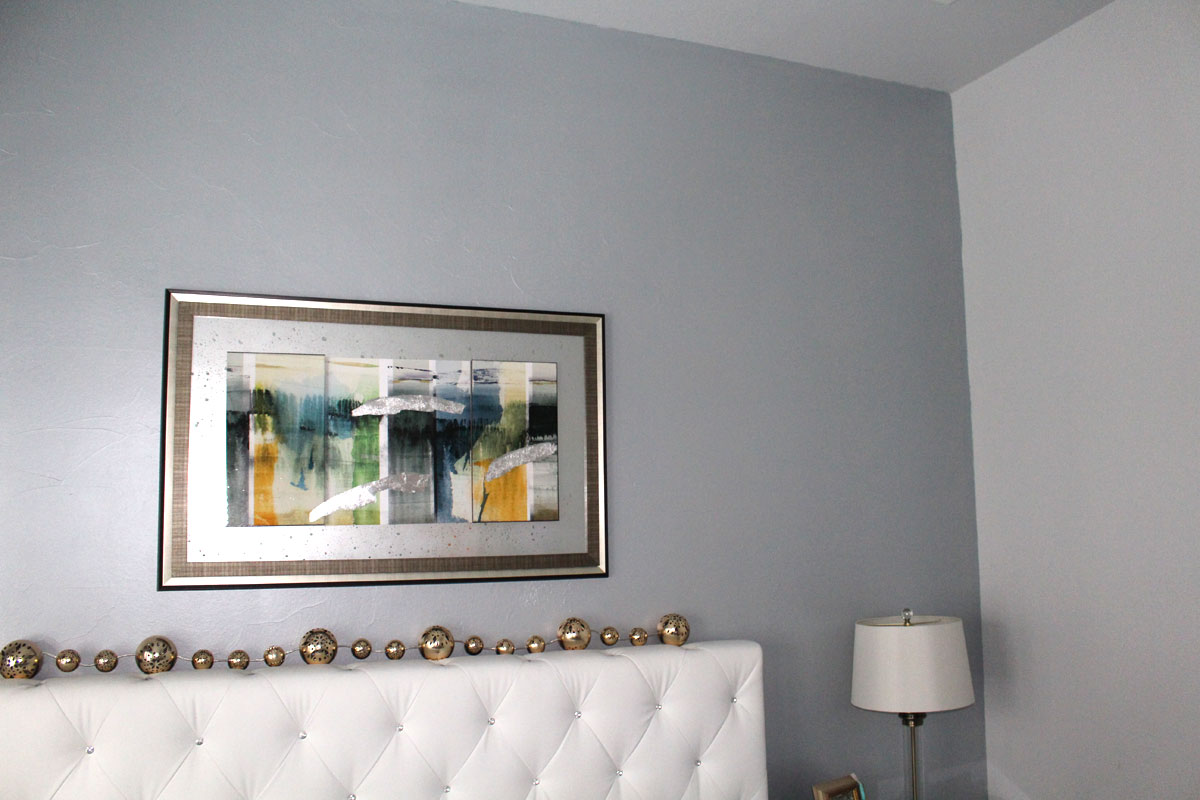 Metallic Blue Interior Wall Paint. painted interior walls