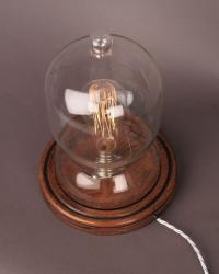 Vintage Retro Glass Dome Table Lamp, Vintage Retro Lighting