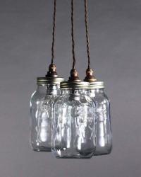 Upcycled Mason Jar Pendant Ceiling Lights, Vintage Retro ...