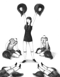 I'm sorry cheerleader – penna bic su carta, 2012 © Virginia Mori