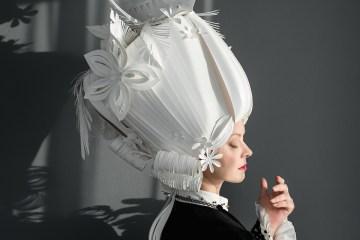 """Baroque paper wigs"" paper artist: Asya Kozina photographer: Anastasia Andreeva photographer's assistant: Dina Kharitonova makeup: Marina Sysolyatina, Svetlana Dedushkina"