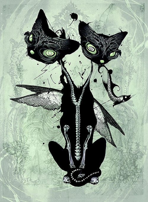 Emo Cartoon Girl Wallpapers Excelentes Ilustraciones Por Natalie Shau Frogx Three