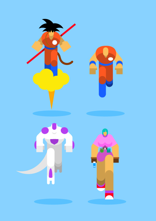Dragon Ball Z Iphone Wallpaper Dise 241 Os Minimalistas De Super Heroes Por Bunka Frogx Three