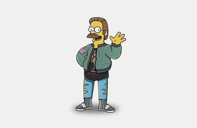 Jordan Logo 3d Wallpaper Personajes De Los Simpsons A La Moda Por Tommy Bates