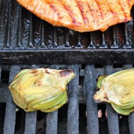 Grilled Baby Artichokes with Curry Dressing