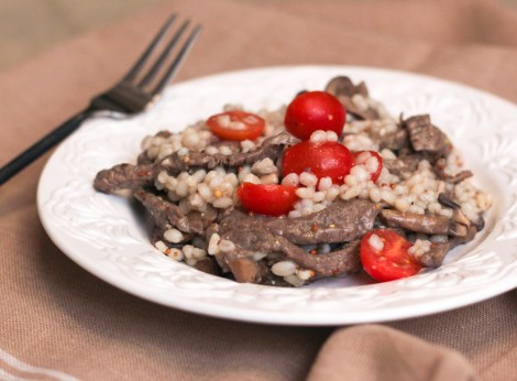 Steak and Barley Salad