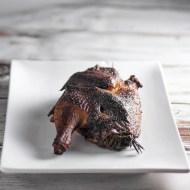 Applewood Smoked Rosemary Chicken for Man Food Mondays