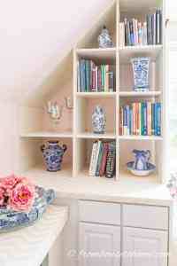 DIY Bonus Room Bookshelves And Window Bench