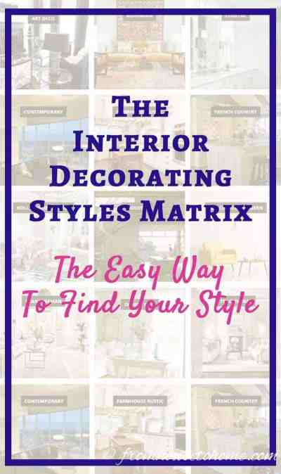 Interior Decorating Styles Matrix: The Easy Way To Find Your Style