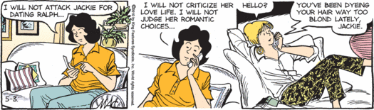 Sally Forth providing sister criticism