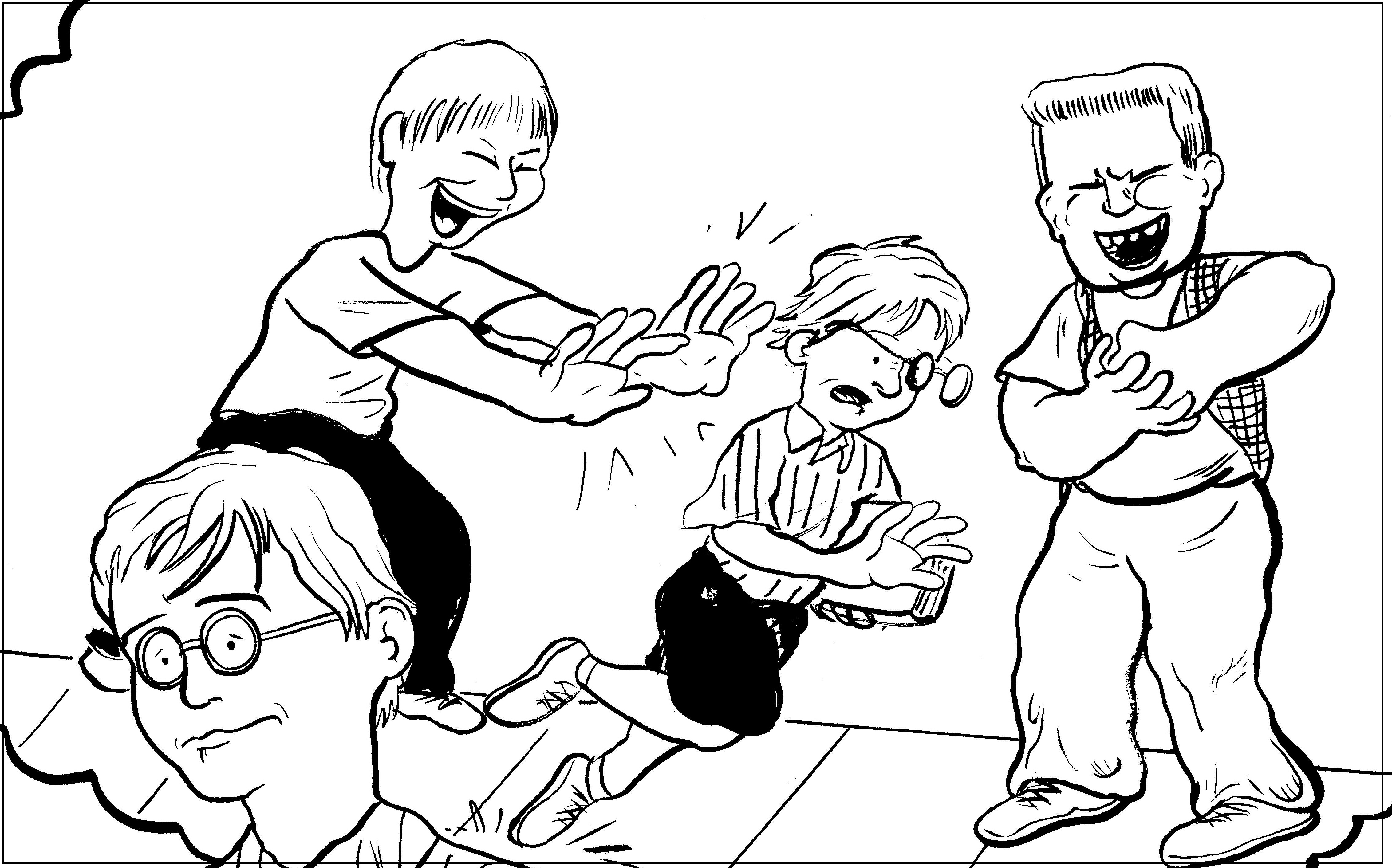 bullying and teasing coloring pages - photo#25
