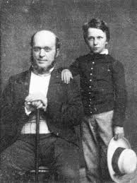 William and Henry James's Father, with Young Henry on the right