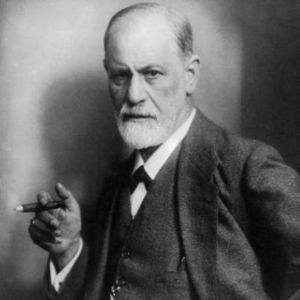 Freud Practicing the Dysfunctional Habit of Smoking