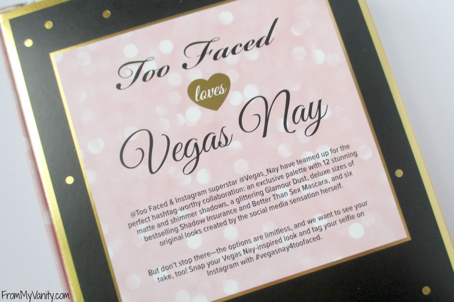 Too Faced Star Dust Vegas Nay // Box Packaging // FromMyVanity.com