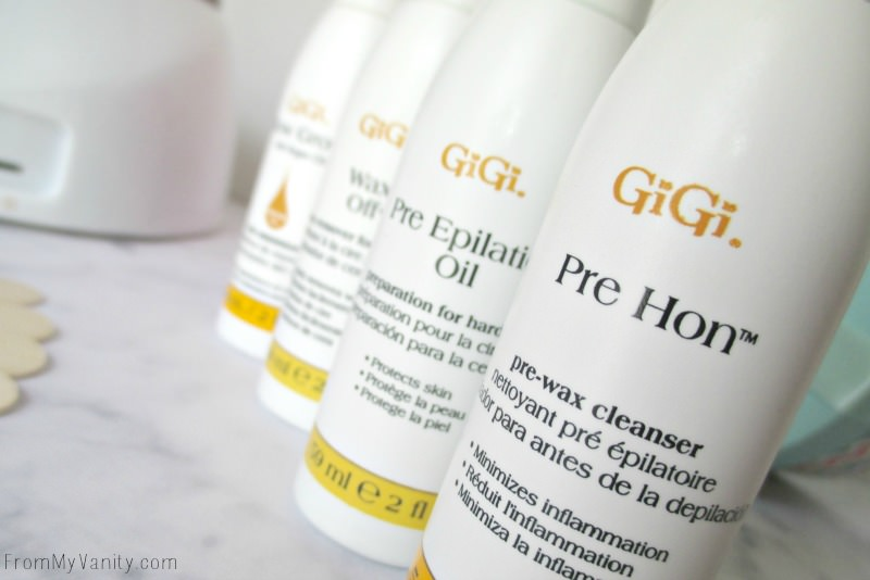 The different types of lotions and cleansers you need to use hard wax at home! // FromMyVanity.com