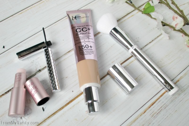 All four products that come in the All About You! QVC collection from IT Cosmetics