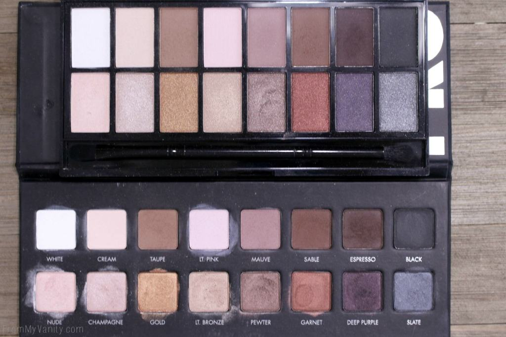 Side by side comparison of the Iconic Pro 1 palette and the PRO palette
