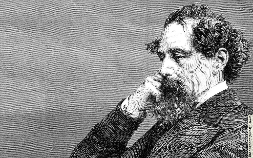 Black And White Dot Wallpaper A Closer Crop Of A Portrait Of Sir Charles Dickens