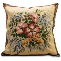 Wild Roses Decorative Tapestry Throw Pillow | Product sku ...