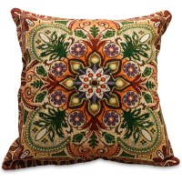 Intricate Ornaments Decorative Tapestry Throw Pillow ...