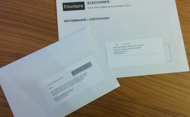 Sobres voto por correo
