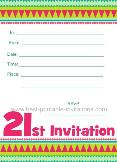 free printable 21st birthday cards - Alannoscrapleftbehind