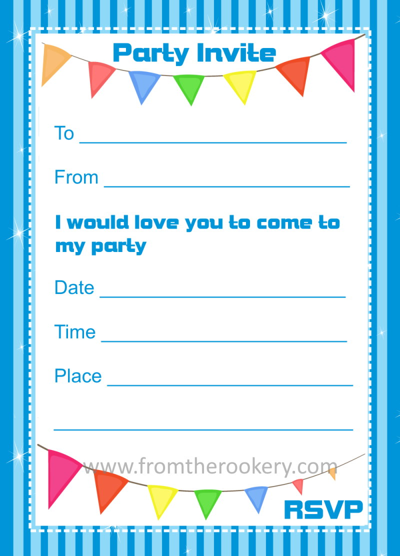 birthday invites printable - Onwebioinnovate - birthday invites template