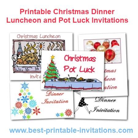 Free Printable Dinner Party Invitations – Printable Dinner Invitations