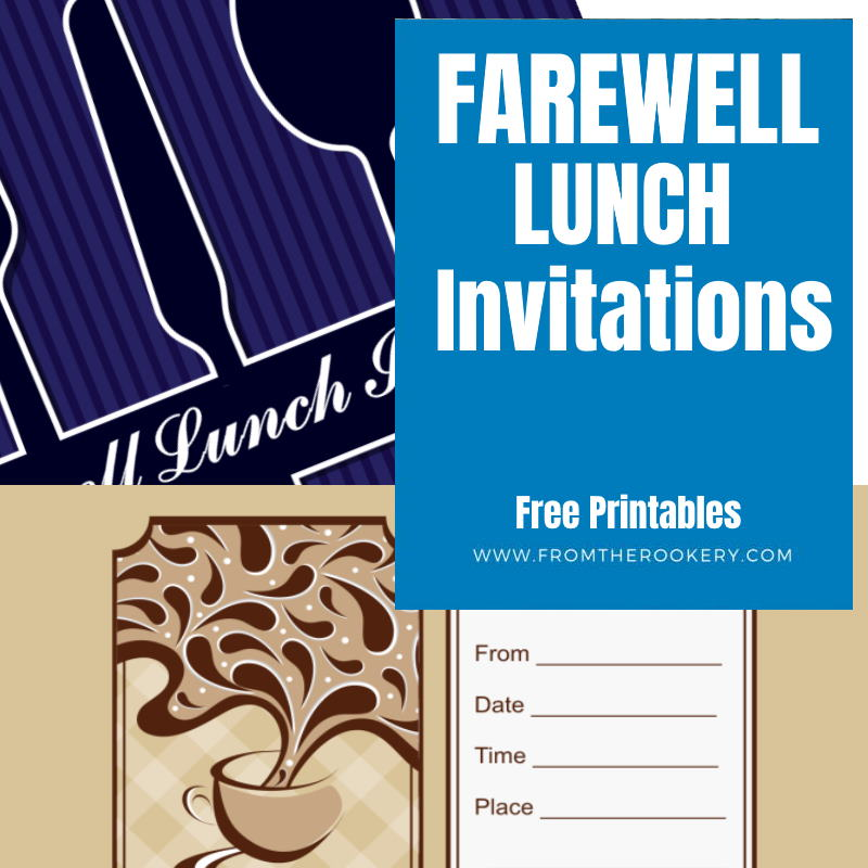 Free Printable Lumcheon Invitation u2013 orderecigsjuiceinfo - farewell invitations templates