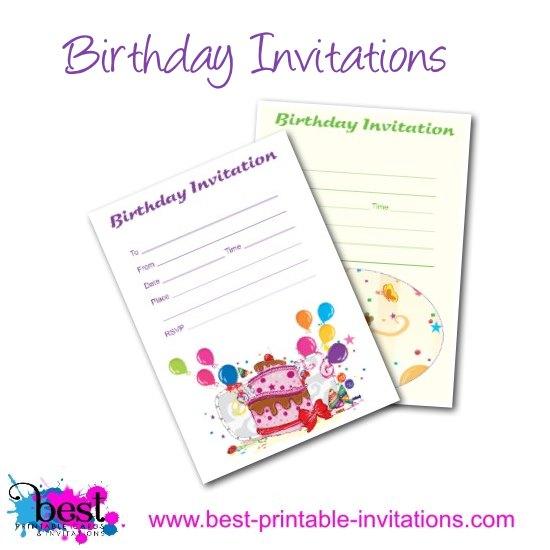 Free Birthday Invitations - free birthday invitation printable