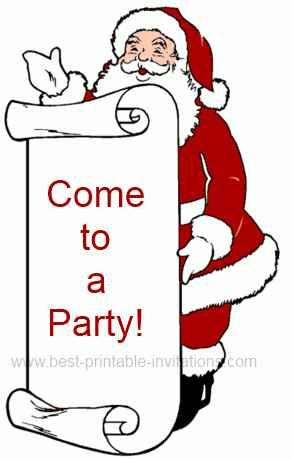 Free Christmas Party Invitations - Christmas Invites