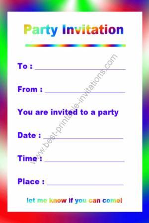 free download birthday invitations - Roho4senses - free birthday invitation printable