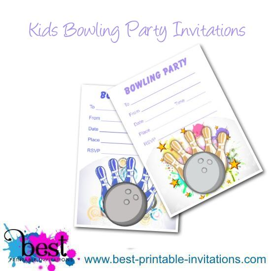 free printable bowling party invitations - Yenimescale - Free Printable Bowling Party Invitations